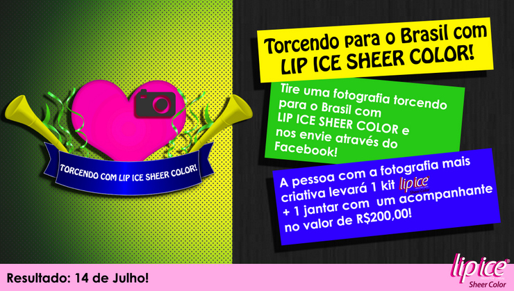 Torcendo para o Brasil com Lip Ice Sheer Color - COPA