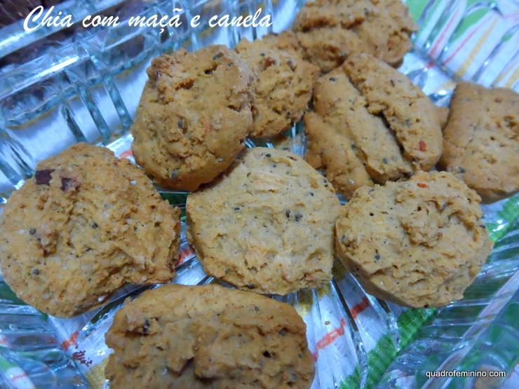 Chia com Maçã e Canela - Cookies Vitalin sem glúten