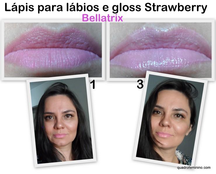 Beauty Treats Lip Trio Bellatrix - Strawberry
