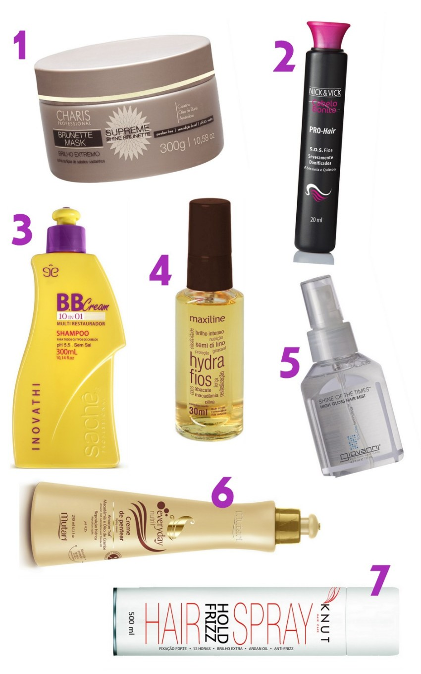 Produtos para dar brilho nos cabelos