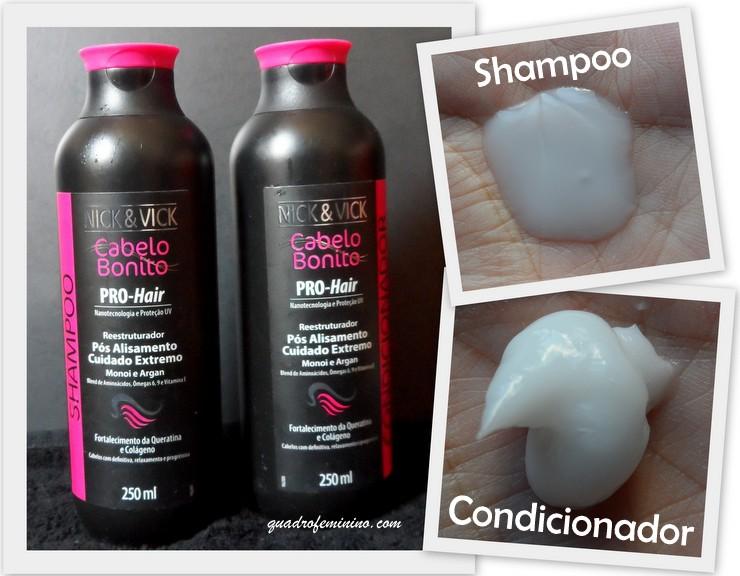 Nick & Vick Cabelo Bonito – Shampoo e Condicionador Pro Hair Reestruturador (2)