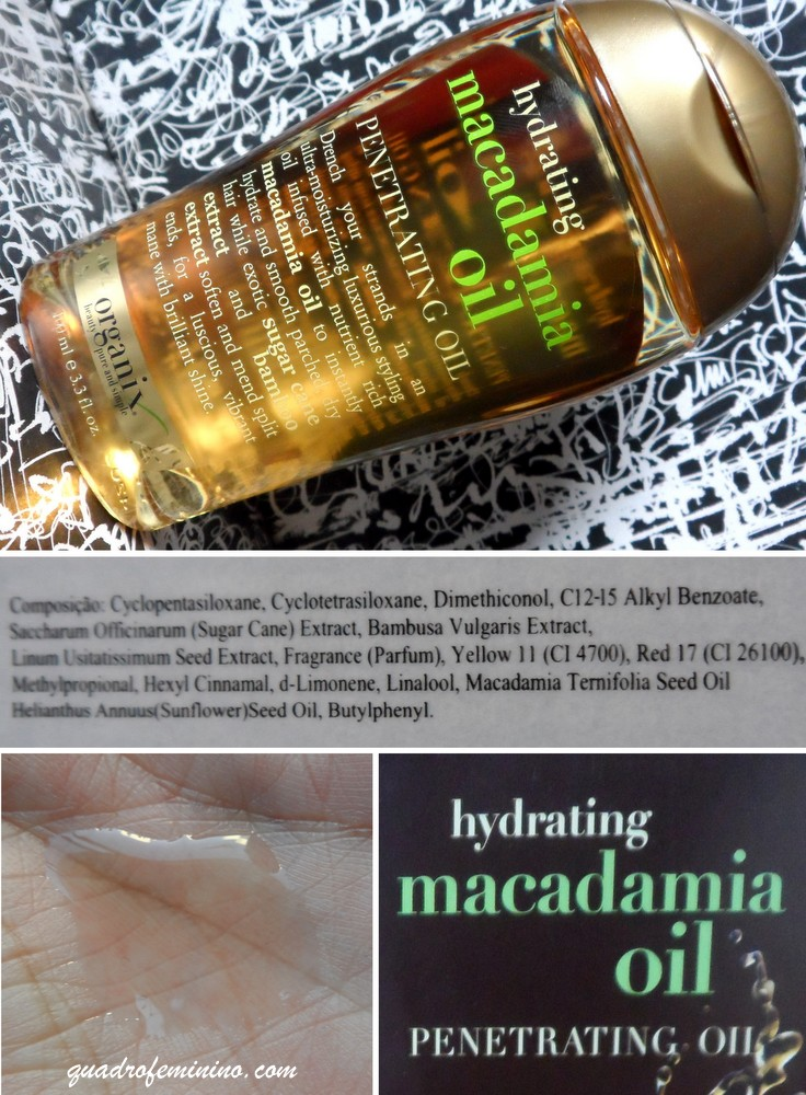 Organix Hydrating Macadamia Oil - Dry Styling Oil 1