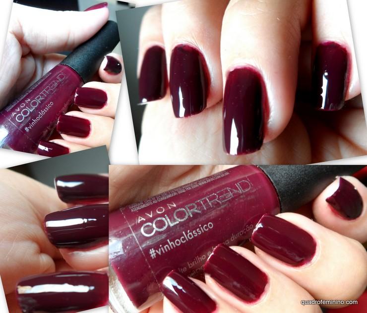 Esmalte Avon Color Trend #vinhoclassico