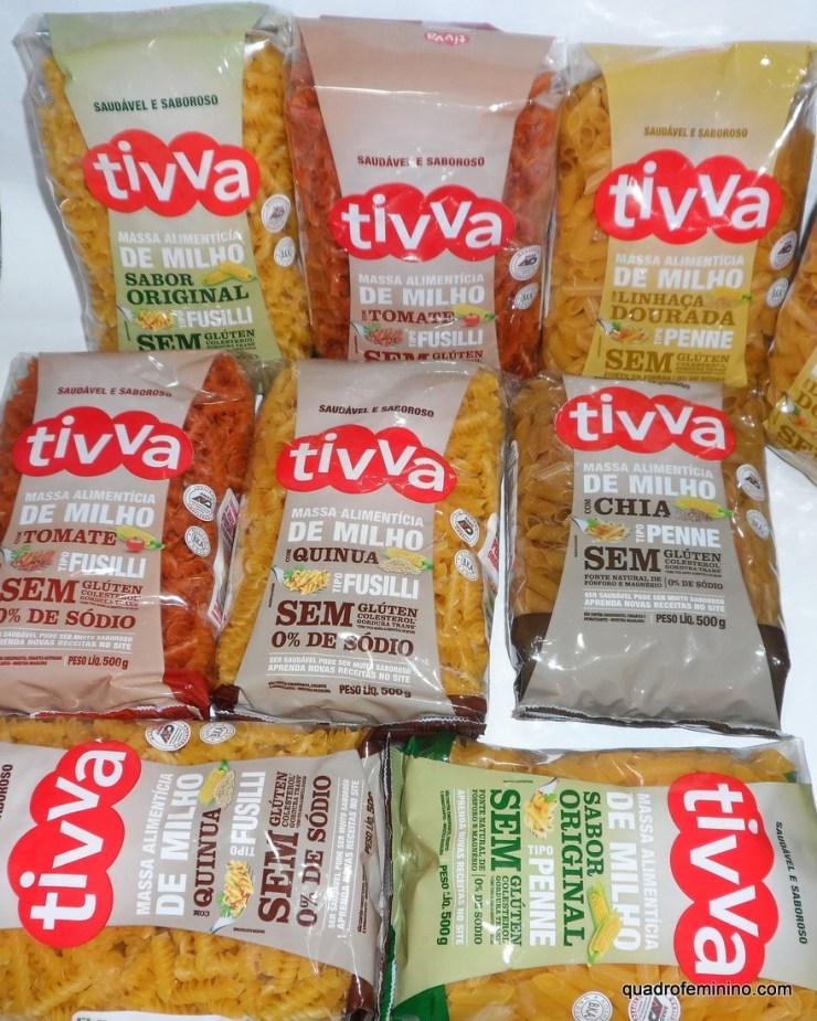 macarrão Tivva - Original, Chia, Quinua, Linhaça Dourada e Tomate