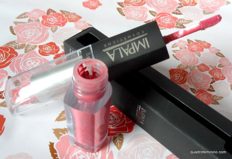 Batom Impala duo líquido hidratante - rosa avermelhado