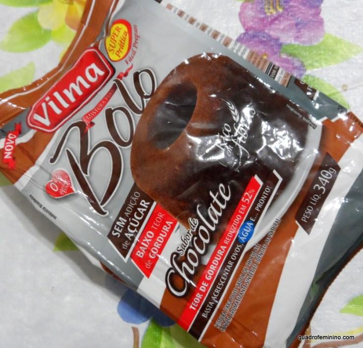 Bolo de Chocolate Zero Açúcar - Vilma Alimentos