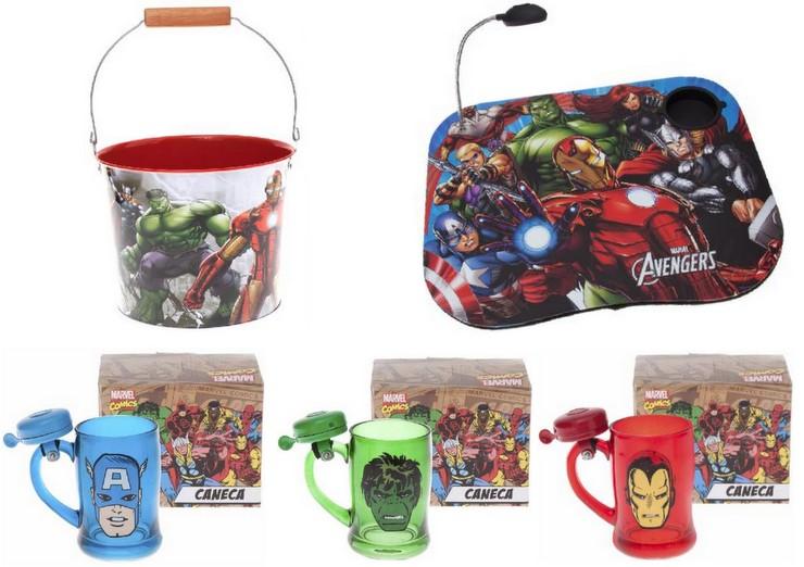 Baldes. Bandeja para computador, Canecas - Super Heróis Marvel