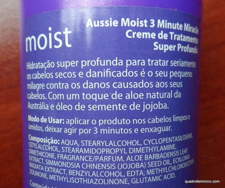 3 minute miracle - Aussie Moist