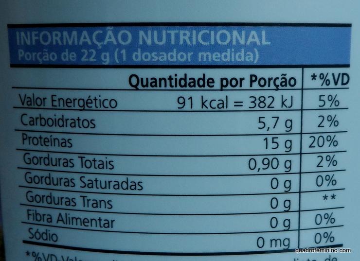 Proteína de Arroz Integral PhytoAble - Informações nutricionais
