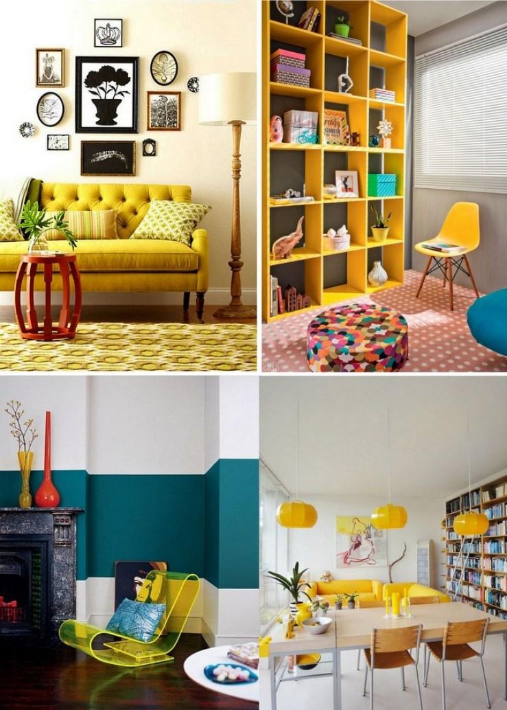 Móveis amarelos