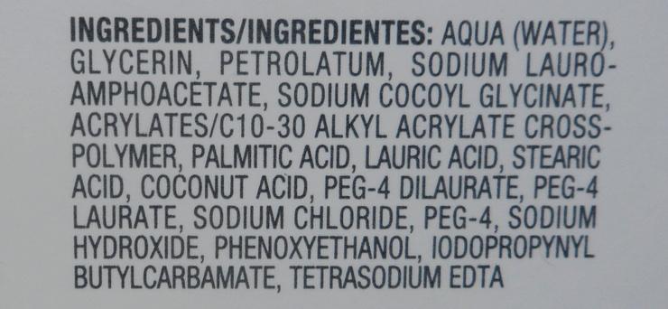 Dove Dermaseries Body Cleanser - ingredientes