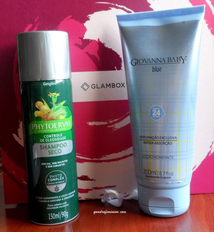 Glambox Phytoervas e Giovanna Baby - shampoo seco e hidratante