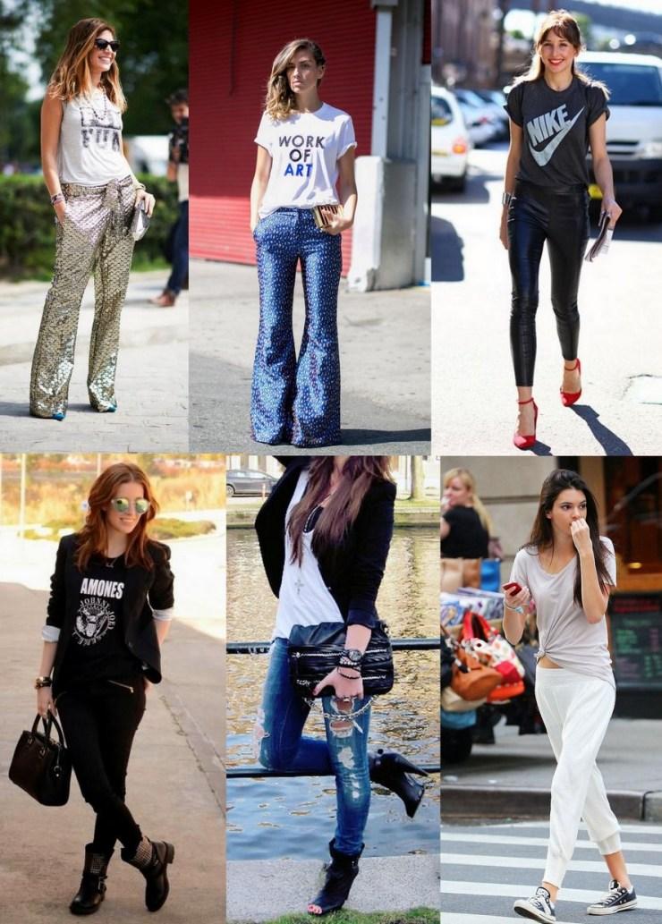 Camisetas com calças