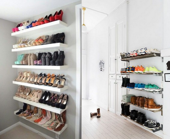 Organizar sapatos - prateleiras