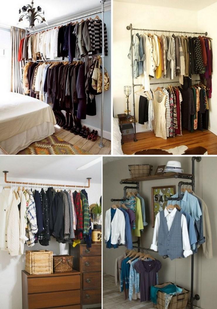 mini closet com canos