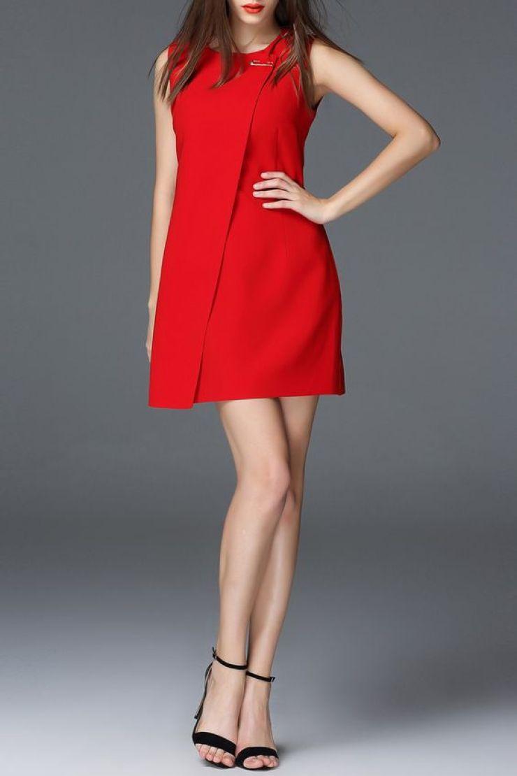 mini vestido vermelho Dezzal