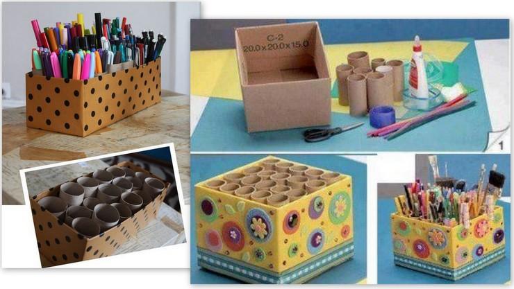 criatividade na organização - caixas de papel