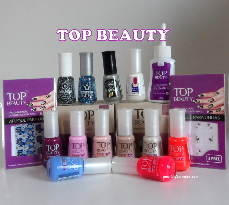 Top Beauty Arraiá, a Easy Tape, um Amolecedor de Cutículas, Películas