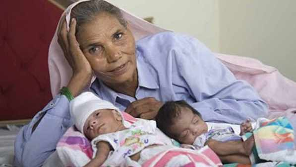 World's oldest mother gives birth to twins