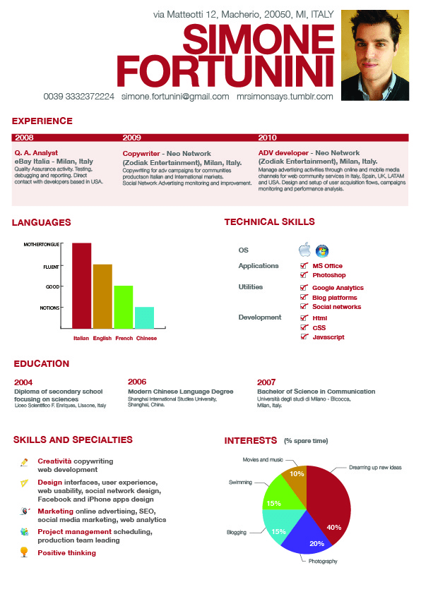 example of great simple resume