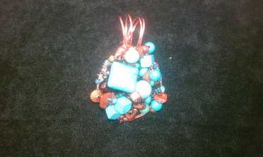 Deb Powell's Turquoise and Copper Pendant
