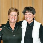 Overall Low Gross winners of the Southwest Spectacular: Mary Campbell-Jones and Nancy Quesenberry; Photo by Ken Haley