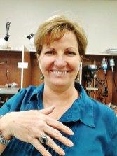 Kathie Kidwell and Hematite Sterling Ring – Silversmithing