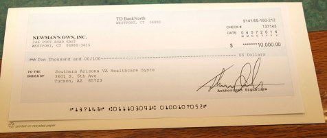 The check for $10K for the VA