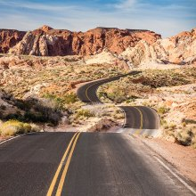 First Place Jeff Krueger: Road to Valley of Fire