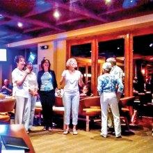 Left to right: Carol Signore, Dodi Prescott, Sharon Krueger, Christy Caldwell, Debbie Huber, Gail and Jim Emery, Carolyn and Gene Walters, Karen Morgan
