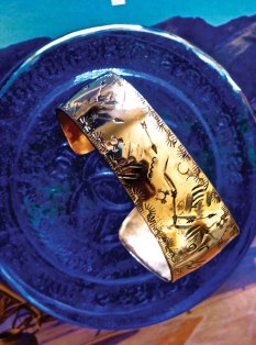 Steve Piepmeier's Native American design copper bracelet