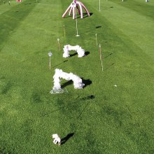 A sampling of some fun holes one will see at the Putters Rally for the Cure; photo by Fred Waggoner.