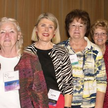 New Board members Nancy Jacobs, Kathy Alves, Pam Rodgers and Judy Collins attended the January presentation.
