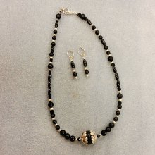 Frannie Vanselow's Basic Bead Stringing necklace and earrings