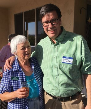 Senator Steve Farley and Jean Jorgensen at the Democratic Club of Quail Creek BBQ