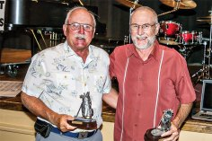 Champions: Tom Brennan and Randy Aldrich at the awards banquet