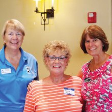 Janet Wegner with Sharon Schoen and Jill Wibbenhorst recognized first time under 40; photo by Sylvia Butler