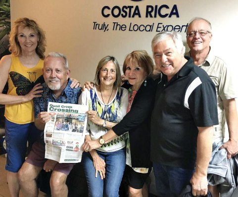 Portia Giggy and Patrick Nigro, along with Jim and Ruth Bradley and Warren and Claudia Jones, having a mid-December blast in Costa Rica.
