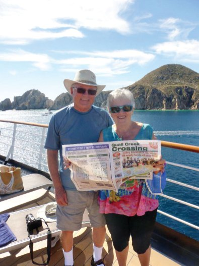 Cabo in January is a popular destination this year as Ken and Judy McCormick sailed on the Eurodam enjoying warm weather.