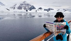 If there's snow in the summer, you must be way down under! Just ask Lin Sanford who was on board the MS Zaadam visiting King George Island, South Shetland Island, Antarctica in January.