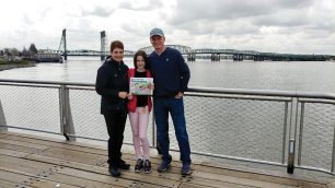 Rob and Deb Nesbitt were able to get some wonderful granddaughter time, along with reading the Crossing, while visiting Vancouver, Washington.