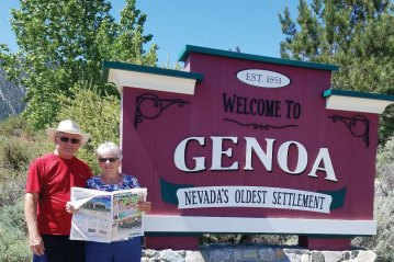 Recent tourist to Nevada's oldest settlement, Genoa, were Ken and Judy McCormick.