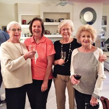 From left: Nancy Cumm, Marge Parkins, Diana Averill and Quigley Robichaud