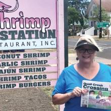 Where's the shrimp? Becky and Jeff Ashin found the best shrimp in Waimea, Kauai, Hawaii during their May vacation.