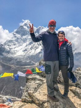 Dr. John Klein and Trekker Guide Deepak with Mt. Everest behind them.