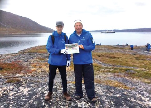 Traveling with family, particularly grandson Eben Thorpe, is a dream come true and Grandpa Rick Thorpe enjoyed this vacation in Norde Stromfjord, Greenland.