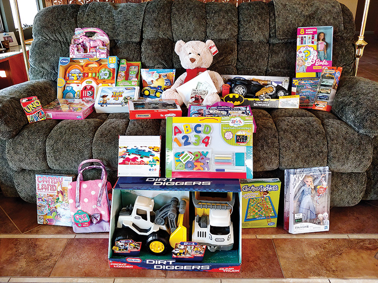 Toys for boys and girls will make Christmas a little merrier for needy children; photo by Peggy McGee.