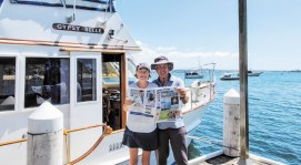 Lois Owen and Rich Stebbins are on the road again! This time it's Wangi Wangi, New South Whales, Australia and reading their copy of the Crossing!