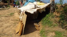 All the villagers are living in makeshift shelters