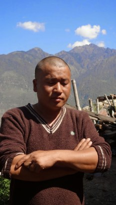 Lanam Ghale lost his 14-year-old son in the quake.